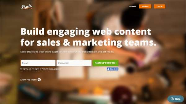 Populr content marketing tools