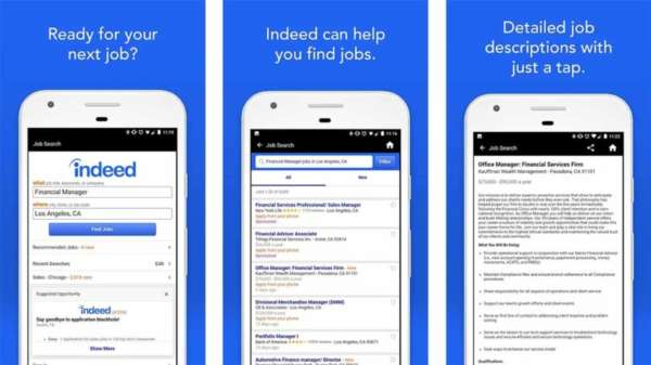 Indeed Job Search - best job apps for android