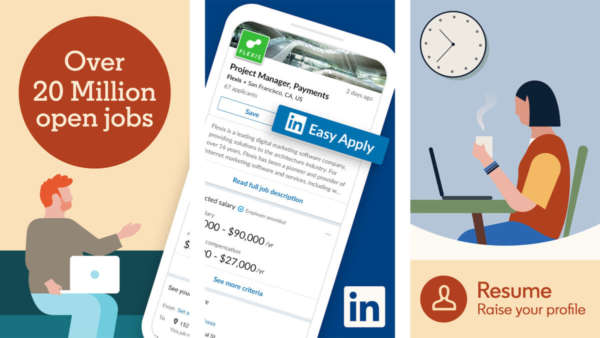 LinkedIn screenshot 2019 for the best resume builder apps for android