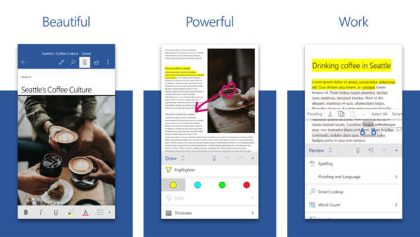 Microsoft Word screenshot for the best resume builder apps for android