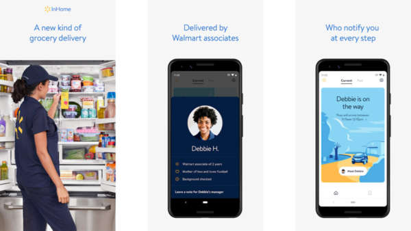 Walmart InHome Delivery screenshot for the apps